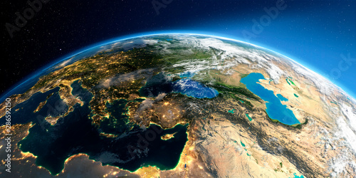 Detailed Earth. Middle East countries #286592150