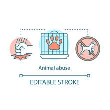 Animal Abuse Concept Icon. Cru...
