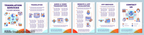 Fotografía  Translation services brochure template layout