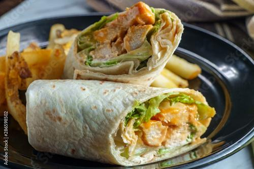 Photo  Buffalo Chicken Sandwich Wrap