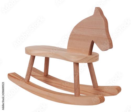 Valokuvatapetti Rocking horse wooden toy vintage childhood