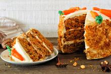 Slice Of Homemade Carrot Cake ...