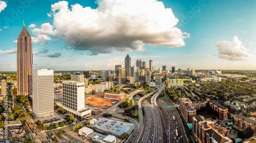 Downtown Atlanta Panorama Canvas Print
