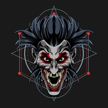 Clown Scream Vector