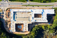 Aerial View Top To Bottom Apartments Construction In Atlanta Suburbs