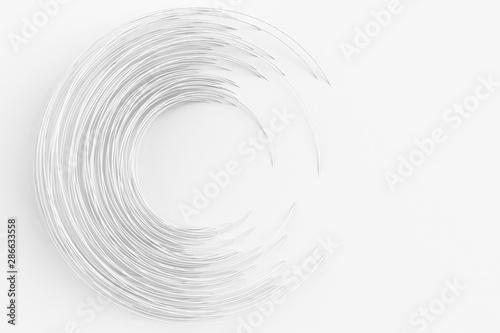 Tapety Geometryczne  cyfrowe-tlo-wielu-splecionych-bialych-pierscieni-ilustracja-3d-renderowanie-3d