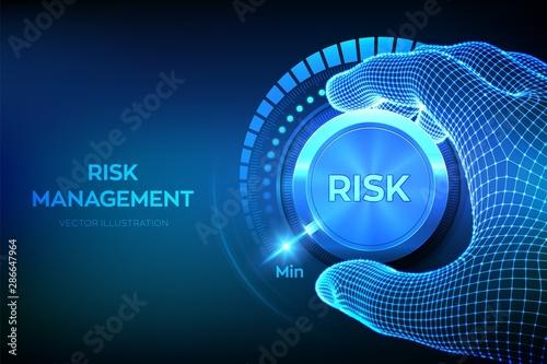 Fotografía  Risk levels knob button