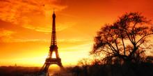 Winter Ligt On Eiffel Tower