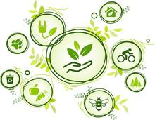 Sustainability Icon Concept: E...
