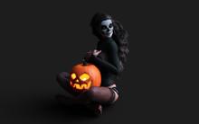 Halloween Pumpkin Or Jack-o'-l...