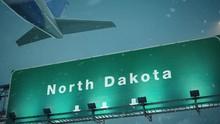 Airplane Take Off North Dakota In Christmas