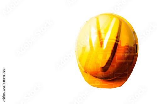 Fototapeta helmet double expocer  isolated on white baclground obraz na płótnie