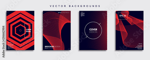Fotomural Minimal Vector cover designs. Future Poster template.