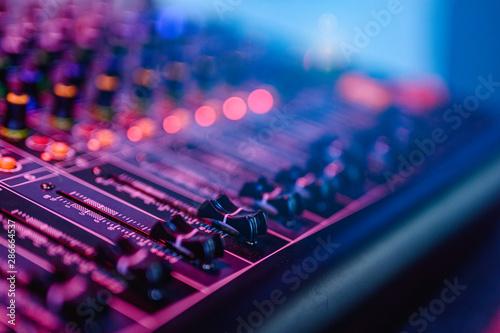 Fotografie, Obraz Professional audio mixing console in concert.