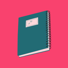 Simple Labeled Notebook Illust...