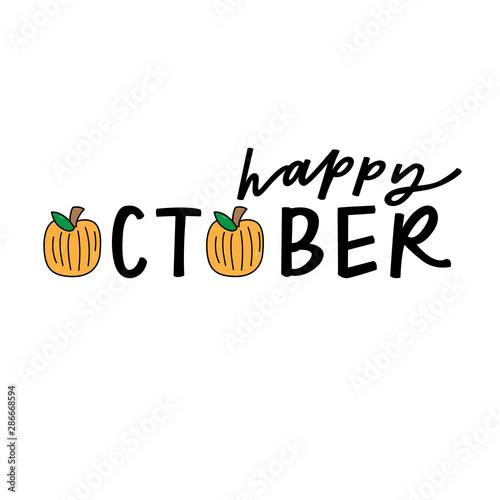 Stampa su Tela  Happy October