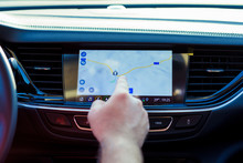 Small Part Of Car Dashboard Wi...