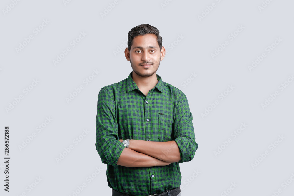 Fototapeta young indian man multi expression