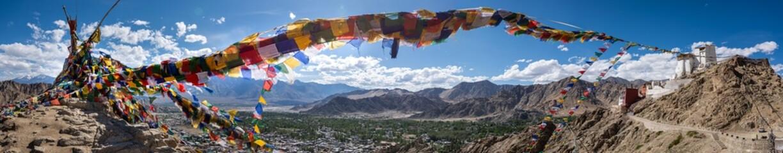 Panorama of Tsemo Gompa, in Leh, Ladakh
