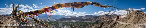 Panorama of Tsemo Gompa, in Leh, Ladakh