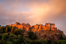 Edinburgh Castle At Sunrise, E...