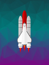 Space Shuttle On The Low Poly ...