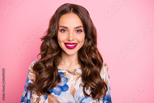 Close-up portrait of her she nice-looking attractive lovely pretty winsome lovab Wallpaper Mural