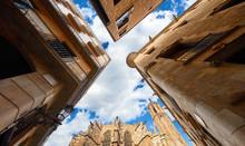 Gothic Quarter. Barcelona. Cat...