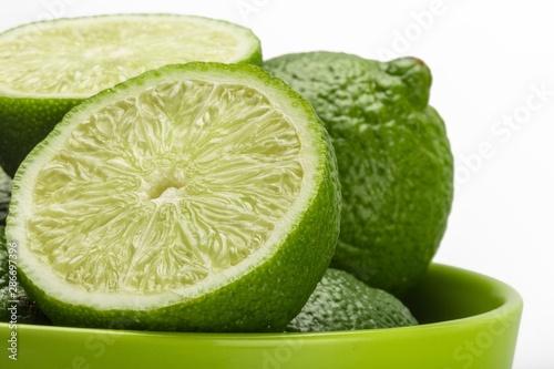 Fototapeta  Bowl of Limes Close-Up