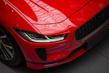 Luxury Red Sports Electric Car