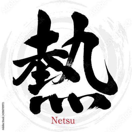 熱・Netsu(筆文字・手書き) Canvas Print