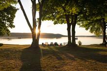 Sunrise On Little Glen Lake In...