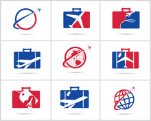 Travel Logos Set Design. Ticke...