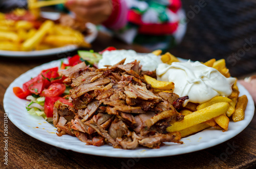 Fotografie, Obraz Doner meat with french fries