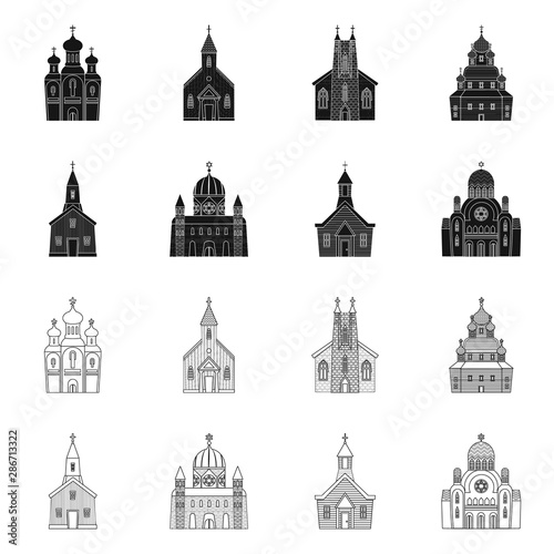 Fotomural Vector illustration of cult and temple icon