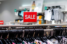 Sign Of Sale In The Store.