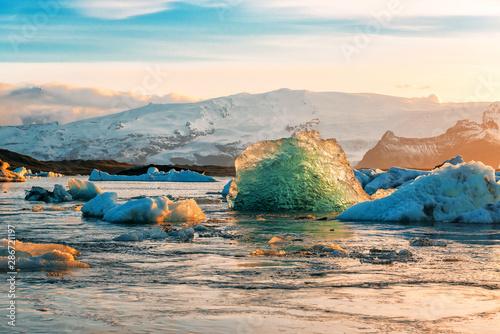Fotografie, Obraz blue iceberg in Iceland