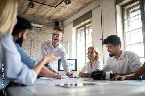 Fotomural  Startup Diversity Teamwork Business Brainstorming Meeting Concept