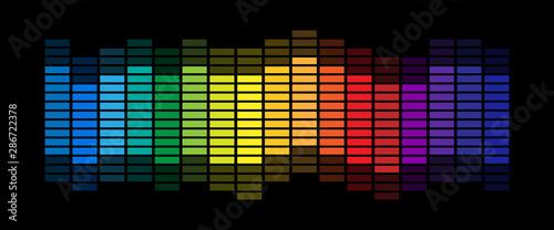 Fotografía  Sound wave equalizer vector design