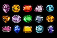 Bright Gems On A Black Backgro...