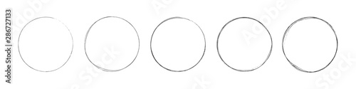 Obraz na plátně circles set. hand drawing different circles