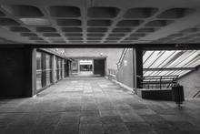 Modernist Architecture From The 1960's In Manchester On The University Campus