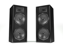 Sound System Speakers On White Background