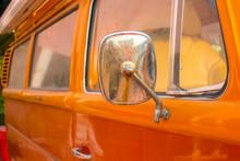 Part Of A Orange Old Rusty Van