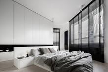 White Bedroom With Big Windows