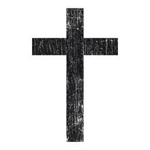 Black Grunge сhristian Cross Vector Isolated