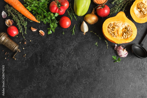 Foto Autumn cooking background