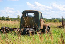 Abandoned Old Truck Car In The...