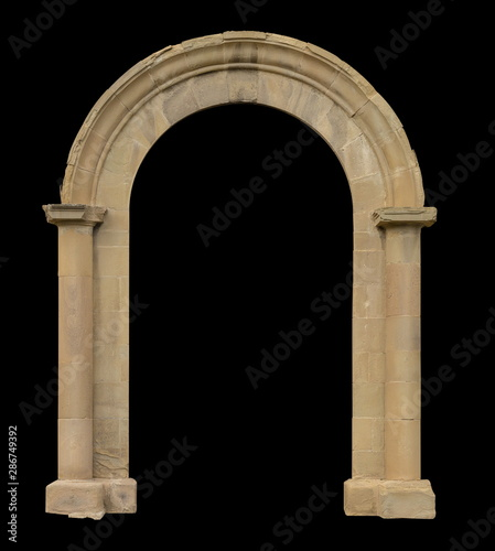 Photo elements of architectural decorations of buildings, windows, arches and columns
