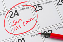 Save The Date Written On A Cal...